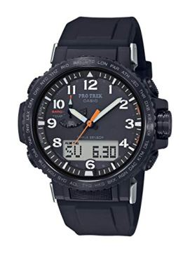 Casio Men's Pro Trek Stainless Steel Quartz Watch with Silicone Strap, Black, 22 (Model: PRW-50Y-1ACR)