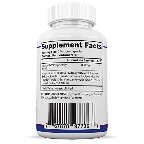 Pure Keto Shred Advanced BHB Ketogenic Supplement Exogenous Ketones Ketosis for Men Women 60 Capsules 3