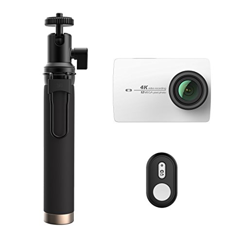 YI 4K Action and Sports Camera Selfie Stick Bundle, 4K/30fps...