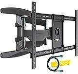 Support TV Mural avec Fixation Ultra Résistant pour écrans 94-178 cm/37-70 Pouces, Bras à Pivot avec Inclinaison, Comprend Câble HDMI 1080p et Niveau à Bulle
