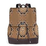 Yuanmeiju Womens Mochila de Cuero Cartoon Octopus Cute Sea Animal Shoulder Schoolbag College Bag Ladies