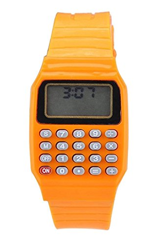 SODIAL Ragazzi e ragazze in silicone data display orologio elettronico multifunzione calcolatrice...