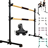 PreGymnastic Updated 4 Ft Adjustable & Portable Freestanding Ballet Barre with Carrying Bag for Dancing Stretching (1)