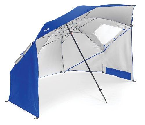 Sport-Brella Umbrella Sonnenschirm für Strand und Garten, Robust, Schutz vor Sonne, Regen und Wind, Mit Tragetasche, Blau, 54\'\' / 136cm