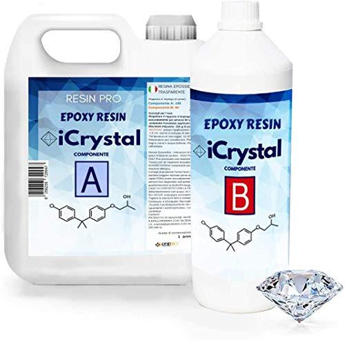 I-CRYSTAL RESINA EPOXI TRANSPARENTE 3,2 Kg. Para Manualidade