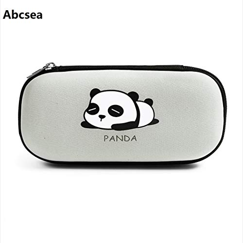 Abcsea 1 pezzo astuccio panda portatile,astuccio per matite di grande capacit, astuccio portapenne...