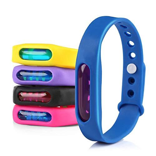 Gwhole Lot de 5 Bracelets Anti Moustique avec Deet Imperméable 100%...