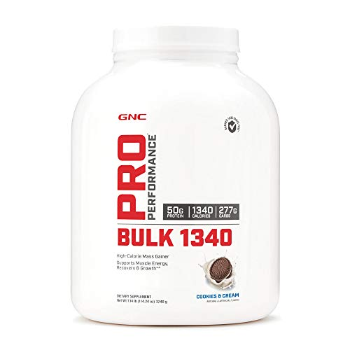 GNC Pro Performance Bulk 1340 - Cookies and Cream, 9 Servings, Supports Muscle Energy, Recovery and Growth