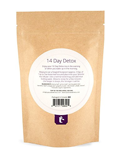 Top to Toe Wellness - 14 Day Detox Tea | Best 100% Natural Weight Loss Tea | Cleanses Digestive System, Promotes Slimming and Reduces Bloating | with Dandelion and Milk Thistle | Loose Leaf 49 Grams 3
