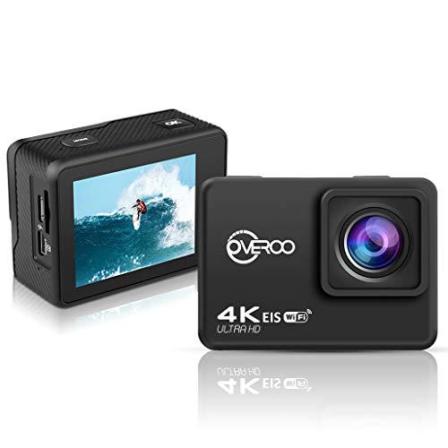 Action Cam telecamera di azione ultra HD 4K @60fps impermeabile 30MT Telecomando EIS Subacqueo stabilizzazione videocamera 170° grandangolare con time Lapse batteria 1050 mah