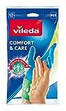 Vileda Comfort and Care Paire de gants en caoutchouc avec lotion...