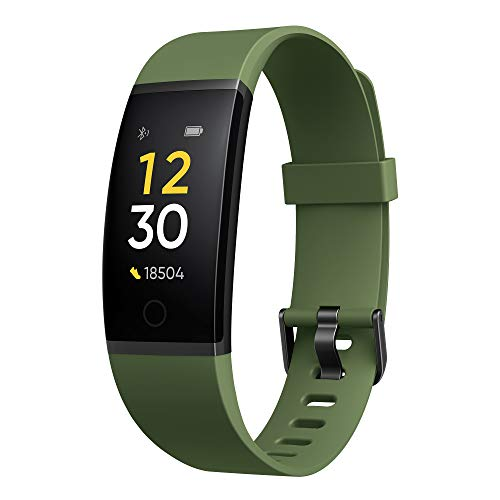 Realme Band (Green) - Full Colour Screen with Touchkey, Real-time Heart Rate Monitor, in-Built USB Charging, IP68 Water Resistant 50