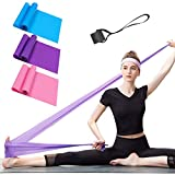 ERUW Bandae Elastiche Fitness, Set di 3 Banda Elastica Fasce Resistenza Fascia Elastica Esercizi Ideale per Terapia Fisica, Yoga, Pilates, Riabilitazione...