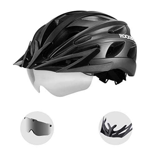 ROCK BROS Bike Helmet for Men Women Cycling Helmet with Removable Goggles & Sun Visor Mountain & Road Bicycle Helmet