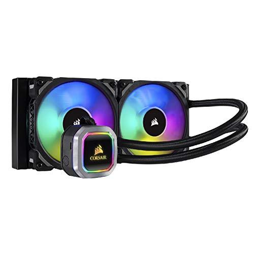 Corsair H100i Raffredamento dell'Acqua e Freon Processore, Radiatore da 240 mm, lIlluminazione RGB