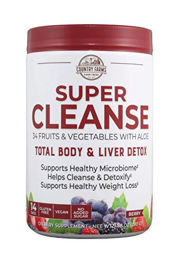 Country Farms Super Cleanse, Organic Super Juice Cleanse, Delicious Drink Powder, 14 Servings, 9.88 Oz (Packaging May Vary) 1