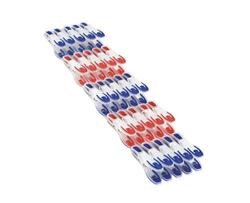 Leifheit Wäscheklammer 25er Set mit extra weicher Komponente, Klammern mit angenehm breiter Fläche zum Zudrücken, optisch ansprechende Wäscheklammern