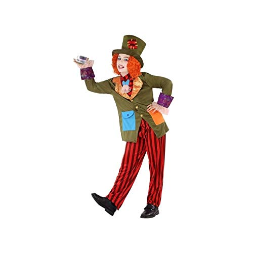 Atosa-61294 Atosa-61294-Disfraz Sombrerero Loco-Infantil NIño, Multicolor, 10 a 12 años (61294