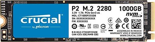 Crucial P2 CT1000P2SSD8 SSD Interno, 1TB, fino a...