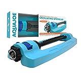 Aqua Joe SJI-OMS16 Indestructible Metal Base Oscillating Sprinkler with Adjustable Spray, 3600-Square Foot Coverage
