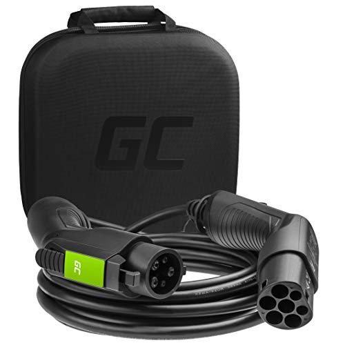 Green Cell® Cable de Carga Tipo 1 para Coches eléctricos EV PHEV | 3,6 kW | 16 A | Tipo 1 a Tipo 2 | 7 Metros | 1 Fase | Compatible con Toyota Prius, Fiat 500, Nissan Leaf