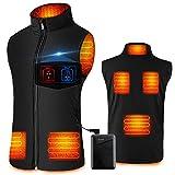 SHAALEK Gilet chauffant pour homme et femme - Veste chauffante rechargeable avec batterie (L (=FR...