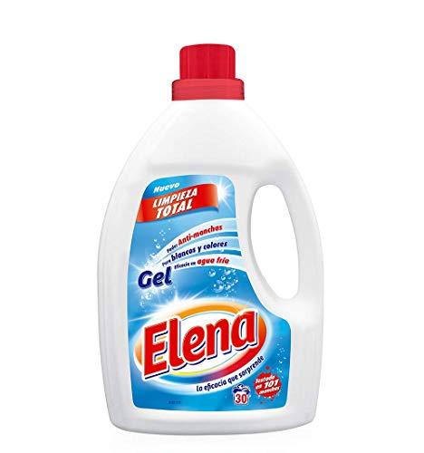 Elena Detergente para lavadora, adecuado para ropa blanca y de color, formato gel - 30 dosis