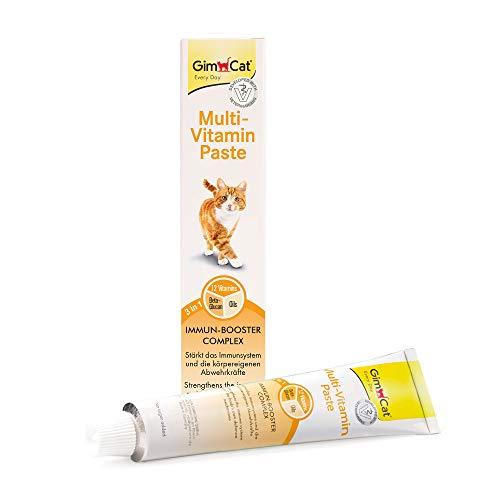 GimCat Multi-Vitamin Paste - Gesunder Katzensnack aktiviert Abwehrkräfte und stärkt das Immunsystem - 1 Tube (1 x 200 g)