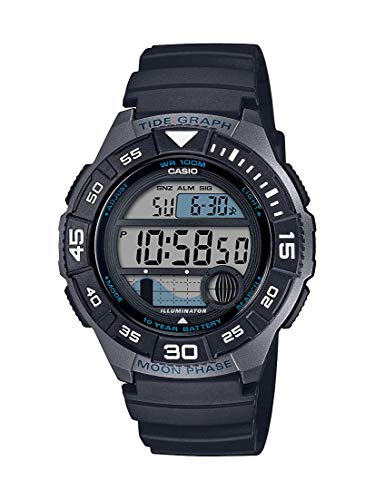 Casio Men's 10 Year Battery Quartz Resin Strap, Black, 22.8 Casual Watch (Model: WS-1100H-1AVCF)