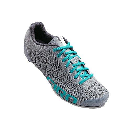 Giro Empire E70 Knit Cycling Shoes - Women's Grey/Glacier 39