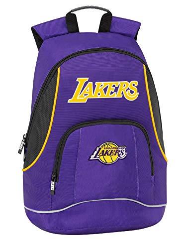 Los Angeles Lakers NBA Zaino Americano 2 Cerniere - Scuola/Tempo Libero cm 30 x 41h x 17 circa