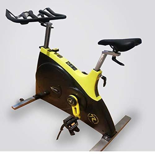 Spinning bike Indoor Exercise Bike Silent Shock Absorption Stepless Resistance Adjustment Adjustable Handles Home Outdoor Gym 1 Piece Yellow 10358114 cm 4