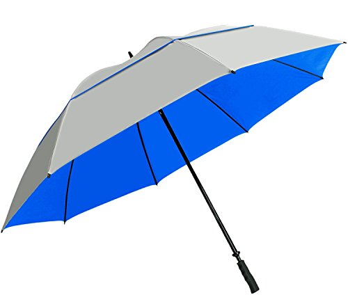 Suntek 68 Reflective UV Protection Windcheater Umbrella with Vented Double Canopy (Silver/Blue)