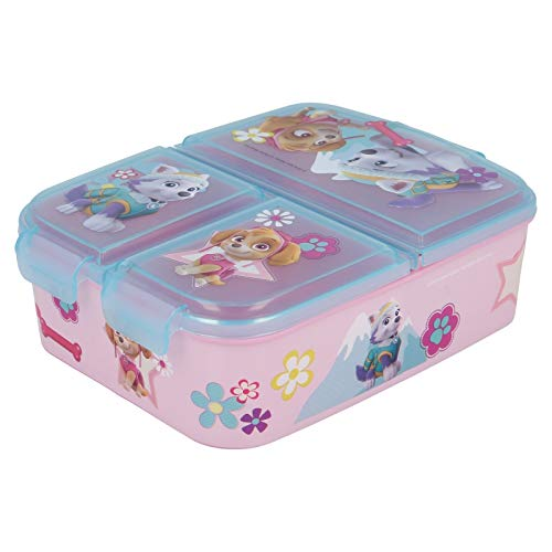 Sandwicheras con 3 Compartimentos para niños - lonchera Infantil - Porta merienda - Fiambrera Decorada (Patrulla canina 2)