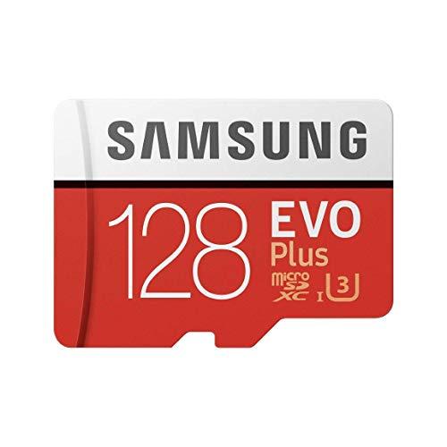 Samsung Memorie MB-MC128GA EVO Plus Scheda microSD da 128 GB, UHS-I U3, Fino a 100 MB/s, con Adattatore SD