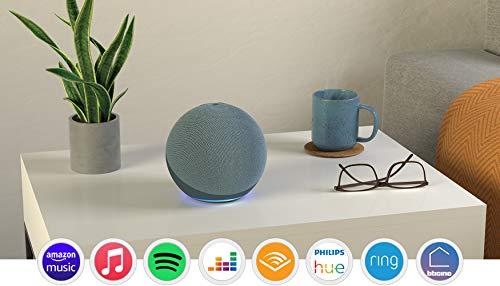 Echo (4ª generazione) - Audio di alta qualità, hub per Casa Intelligente e Alexa - Ceruleo