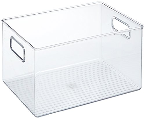 iDesign Organizer cucina con manico, Contenitore cucina in plastica extra large senza coperchio,...