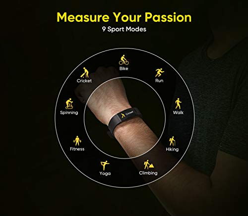 Realme Band (Green) - Full Colour Screen with Touchkey, Real-time Heart Rate Monitor, in-Built USB Charging, IP68 Water Resistant 11
