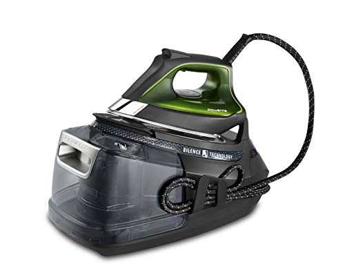 Rowenta DG9248 Silence Steam Pro Dampfbügelstation (2800 Watt, extra Dampfstoß: 620 g/Min., Tankfüllmenge: 1300 ml) schwarz/grün