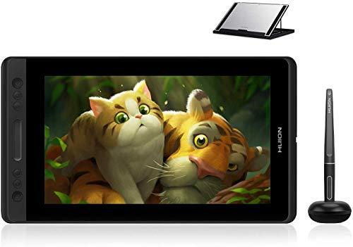 HUION KAMVAS Pro 13 Tablette Graphique avec Ecran 13.3 Pouces avec 4 Raccourcis et 1 Barre Tactile idéal pour l'enseignement à Distance, Compatible avec Chromebook, Windows & Mac