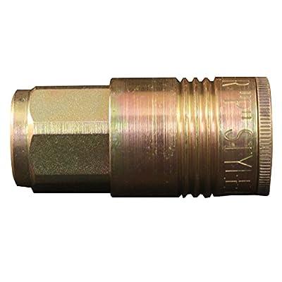 "1/4"" female national pipe threads Maximum of 300 pounds per square inch Maximum air flow of 68 standard cubic feet per minute Maximum temperature of 250 degrees Fahrenheit Made in USA"