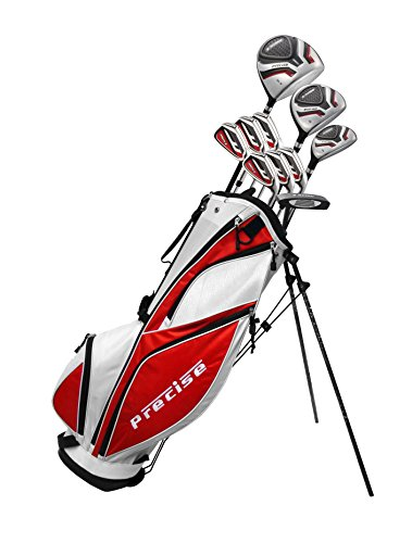 MDXII-Mens-Complete-Golf-Clubs-Full-Package-Set-Includes-Titanium-Driver-SS-Fairway-SS-Hybrid-SS-5-PW-Irons-Putter-Bag-HCs