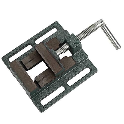 Morsa per trapano a colonna, morsa di bloccaggio fresa, 5,2 x 5,2 x 1,7 pollici per parti di fissaggio di metalli