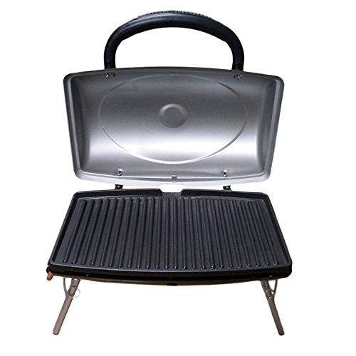 SLP Barbecue tskbucBarbecue Portatile a Gas, 48x 30x 35cm, Colore: Argento