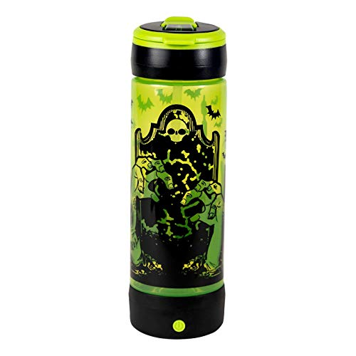 COOL GEAR POP Lights 24oz Light UP Graveyard Halloween Water Bottle:by