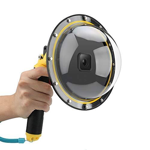 AFAITH Dome Port per GoPro Hero8 Black, Custodia impermeabile 6 pollici con galleggiante Impugnatura compatibile con Hero 8