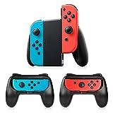 Nintendo Switch JoyCon Grips 3 Piezas Timoom Nintendo Switch Controller Kit de empuñaduras de controlador de juego de carcasa protectora, con reducción de fatiga en la palma curva para Switch Joy-Con