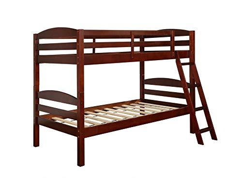 Powell Bunk Bed, Espresso, Twin,