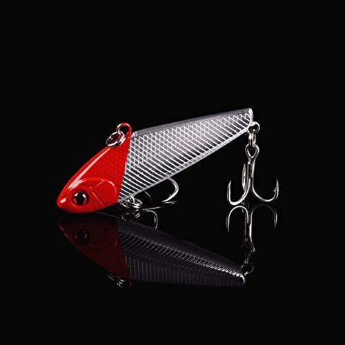 Sepikey Esche da Pesca Esche in plastica Morbida VIB sommerse Affondamento Vibrante Simulazione Esca Vibrante (Casuale)