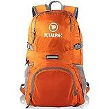 TotalPac - 35L Hiking Daypack Backpack - 11oz - Ripstop Nylon - 11 Pockets - Traveling & Hiking